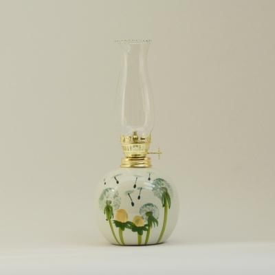 petroleumlampe 0 pusteblume schlankes glas t pferei thunig. Black Bedroom Furniture Sets. Home Design Ideas