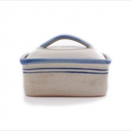 butter dish large  blue