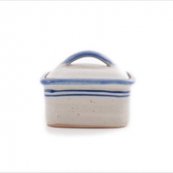 butter dish small  blue