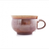café au lait cup  brown
