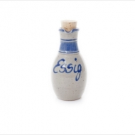 vinegar bottle small  blue