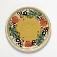dinner plate yellow