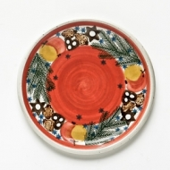 dinner plate red