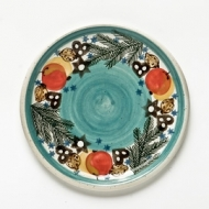 dinner plate turquoise