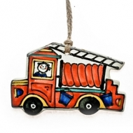 gift tag fire engine