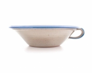 greek bowl  medium  blue