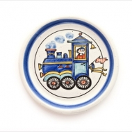 children`s plate locomotive