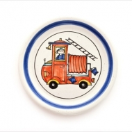 children`s plate fire engine