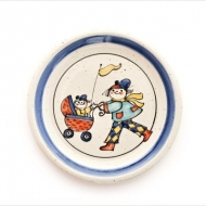 children`s plate doll`s pram