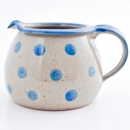 milk pot large  blue