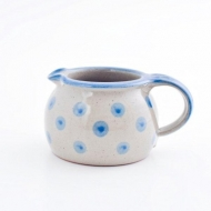 milk pot small  blue