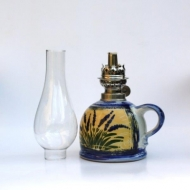 oil lamp Provence small bellied glass