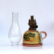 oil lamp small bellied glass