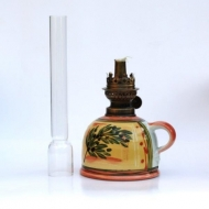 oil lamp small straight glas