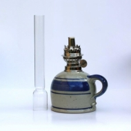 oil lamp small with straight glass