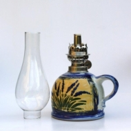 oil lamp medium bellied glass