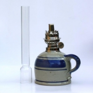 oil lamp middle straight glass