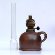 oil lamp medium brown