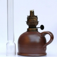 oil lamp large brown