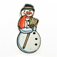 fridge magnet snowman