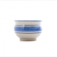 tea bowl large  blue