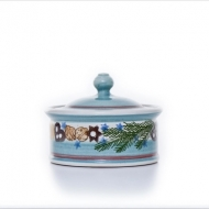 Christmas pot shallow turquoise