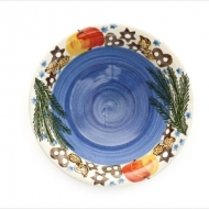 Christmas bowl large blue