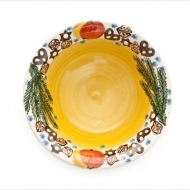 Christmas bowl large yellow