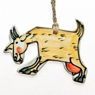 gift tag goat