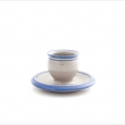 egg cup wih plate  blue