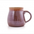 beaker with handle large  brown