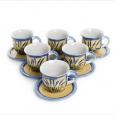 set 6 cappucchino cups with saucer 0,2l