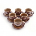 set 6 espresso cups wide bottomed